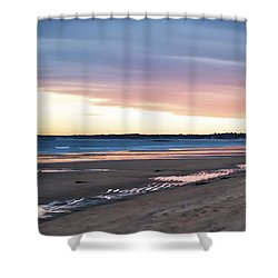 Winter Beach Shower Curtain by Richard Bean
