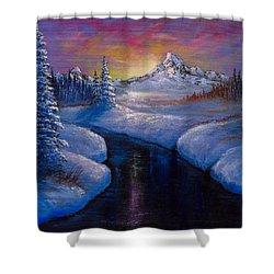 Winter Beauty Shower Curtain by C Steele