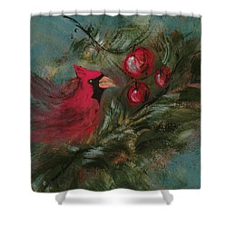 Winter Berries Shower Curtain by Lee Beuther