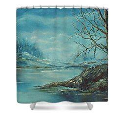 Winter Blue Shower Curtain