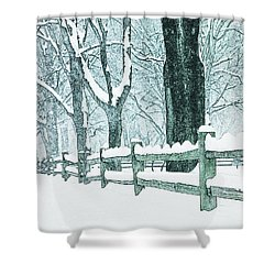 Winter Blues Shower Curtain by John Stephens