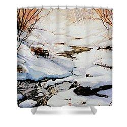 Winter Break Shower Curtain by Hanne Lore Koehler