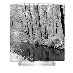 Winter By Crum Creek Shower Curtain by Deborah  Crew-Johnson