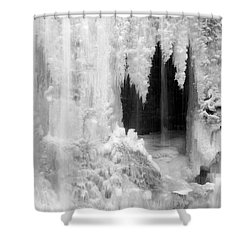 Winter Cave Shower Curtain