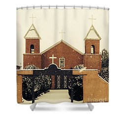 Winter Church Shower Curtain