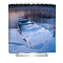 Shower Curtain featuring the photograph Winter Dawn by Davorin Mance