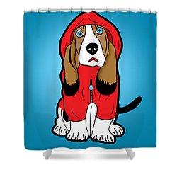 Winter Dog  Shower Curtain by Mark Ashkenazi