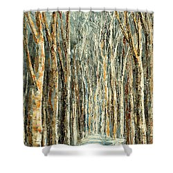 Shower Curtain featuring the painting Winter Dreams by Tatiana Iliina