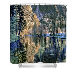 Winter Falls Shower Curtain by Bill Gallagher