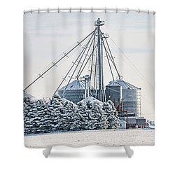 Winter Farm  7365 Shower Curtain