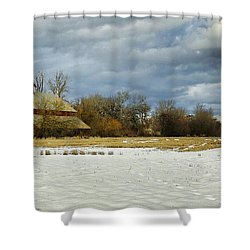 Winter Farm Shower Curtain by Steve McKinzie