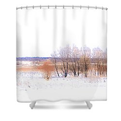 Winter Fields. In Color Shower Curtain by Jenny Rainbow