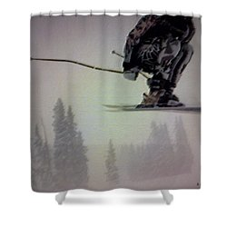 Winter Flight Shower Curtain by George Pedro
