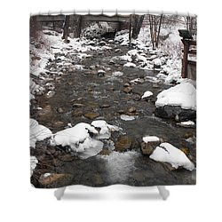 Winter Flow Shower Curtain by Adam Cornelison