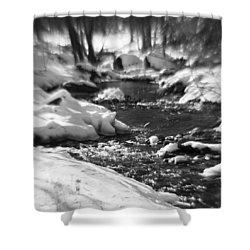 Winter Flow Shower Curtain
