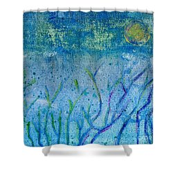 Winter Forest In Moonlight Shower Curtain by Desiree Paquette