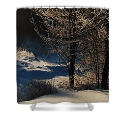 Shower Curtain featuring the photograph Winter Glow by Mim White