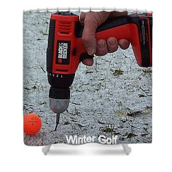 Winter Golf Shower Curtain by Frozen in Time Fine Art Photography