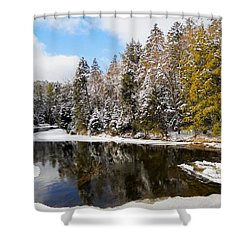 Shower Curtain featuring the photograph Winter Impressions ... by Juergen Weiss