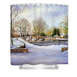 Winter In Ashford Shower Curtain by Andrew Read