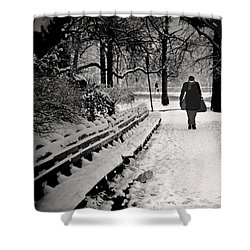 Winter In Central Park Shower Curtain by Madeline Ellis