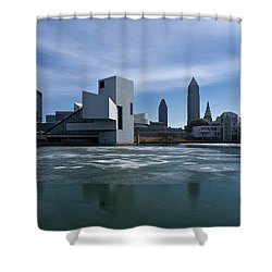 Winter In Cleveland Shower Curtain by Dale Kincaid