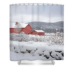Winter In Connecticut Shower Curtain
