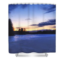 Winter In New England Shower Curtain by Joann Vitali