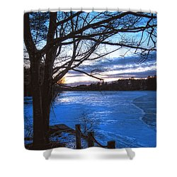 Winter In New Hampshire Shower Curtain by Joann Vitali