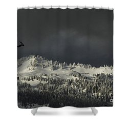Shower Curtain featuring the photograph Winter In North Cascades by Yulia Kazansky