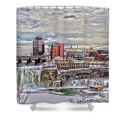 Winter In Rochester Shower Curtain