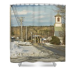 Winter In Round Pond Maine Shower Curtain by Keith Webber Jr