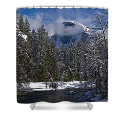 Winter In The Valley Shower Curtain by Bill Gallagher