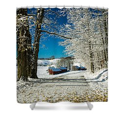 Winter In Vermont Shower Curtain