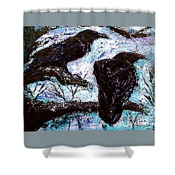 Winter Is Coming Shower Curtain by D Renee Wilson