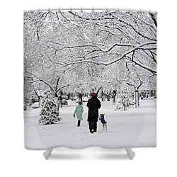 Winter Joy Shower Curtain