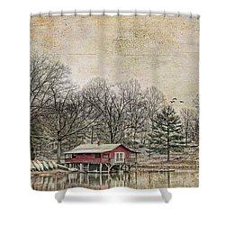 Winter Lake Shower Curtain by Darren Fisher
