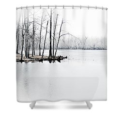 Shower Curtain featuring the photograph Winter Lake by Greg Jackson