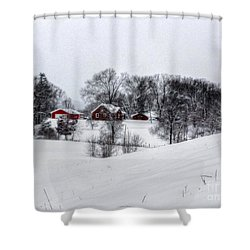 Winter Landscape 5 Shower Curtain