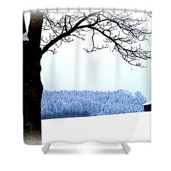 Winter Landscape In Bavaria Shower Curtain by The Creative Minds Art and Photography
