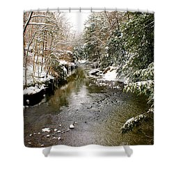 Shower Curtain featuring the photograph Winter Landscape by Michelle Joseph-Long