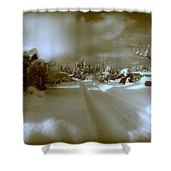 Winter Lane Shower Curtain
