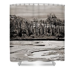 Shower Curtain featuring the photograph Winter Light by J L Woody Wooden