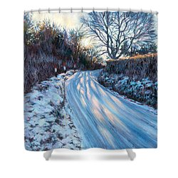 Winter Light Shower Curtain by Tilly Willis