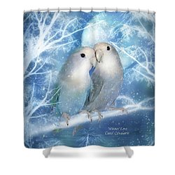 Winter Love Shower Curtain by Carol Cavalaris