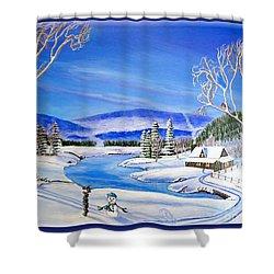 Winter Magic At A Mountain Getaway Shower Curtain