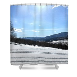 Winter Mountain Views Of Vly And Hunter Shower Curtain by Patricia Keller