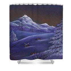 Winter Night Shower Curtain by Anastasiya Malakhova