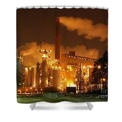 Winter Night At Sunila Pulp Mill Shower Curtain