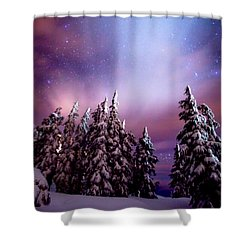 Winter Nights Shower Curtain by Darren  White